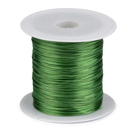 Galanterie: Pruženka / gumička plochá 1 mm - zelená