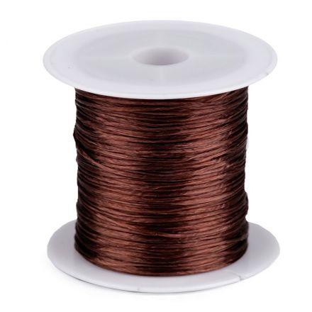 Galanterie: Pruženka / gumička plochá 1 mm - hnědá