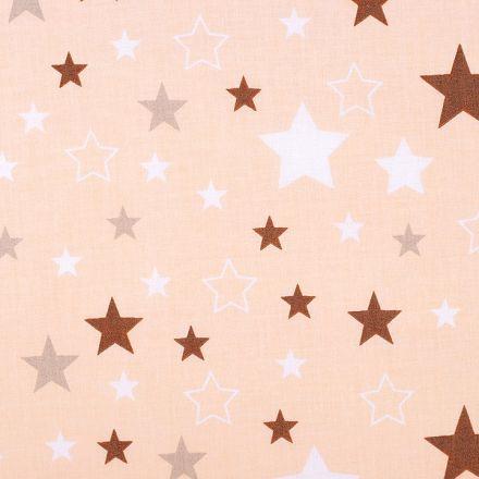 Metráž: Bavlněná látka hvězdy - broskvová