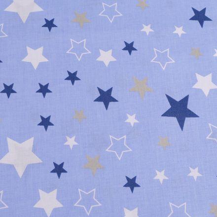 Metráž: Bavlněná látka hvězdy - modrá