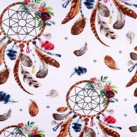 Metráž: Bavlněná plenkovina šíře 80 cm - lapač snů