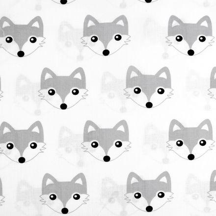 Metráž: Bavlněná látka šíře 160 cm - liška šedá