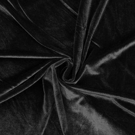 Metráž: Elastický samet - černá