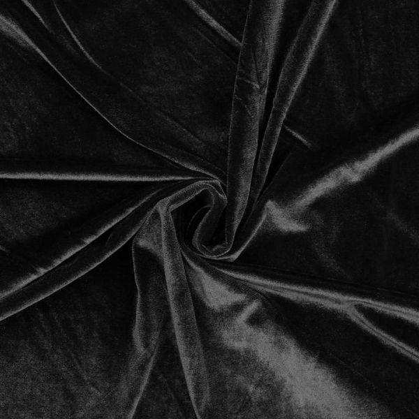Elastický samet - černá