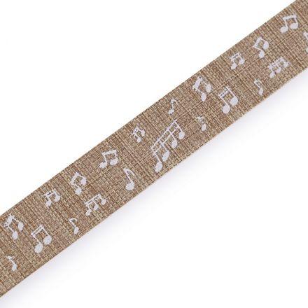Galanterie: Plátnová stuha šíře 15 mm - béžová