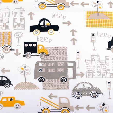 Metráž: Bavlněná látka - autíčka