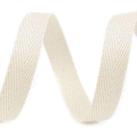 Galanterie: Keprovka - tkaloun šíře 10 mm (1m) - režná
