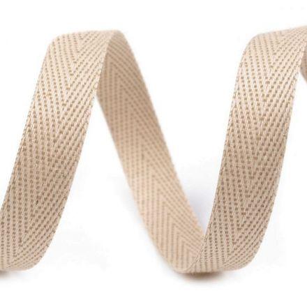 Galanterie: Keprovka - tkaloun šíře 10 mm (1m) - béžová