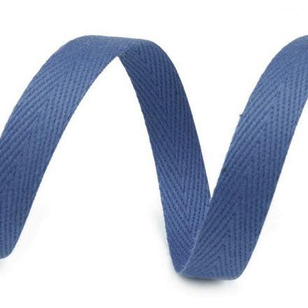 Galanterie: Keprovka - tkaloun šíře 10 mm (1m) - modrá