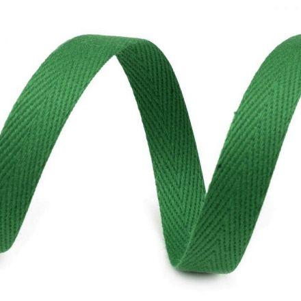 Galanterie: Keprovka - tkaloun šíře 10 mm (1m) - zelená