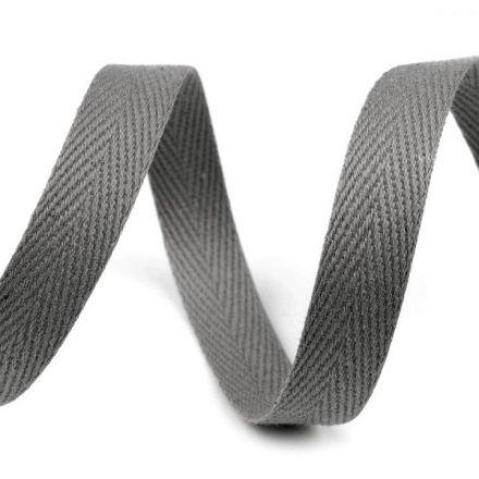 Galanterie: Keprovka - tkaloun šíře 10 mm (1m) - šedá