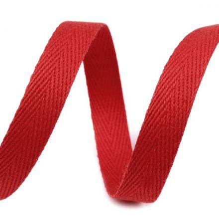 Galanterie: Keprovka - tkaloun šíře 10 mm (1m) - červená