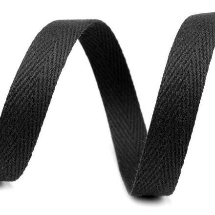 Galanterie: Keprovka - tkaloun šíře 10 mm (1m) - černá