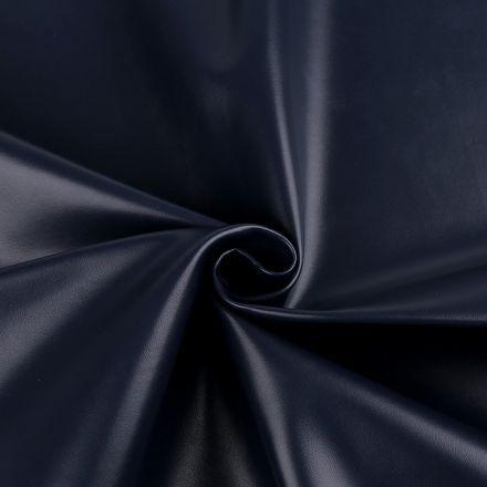 Metráž: Koženka šíře 140 cm - tmavě modrá