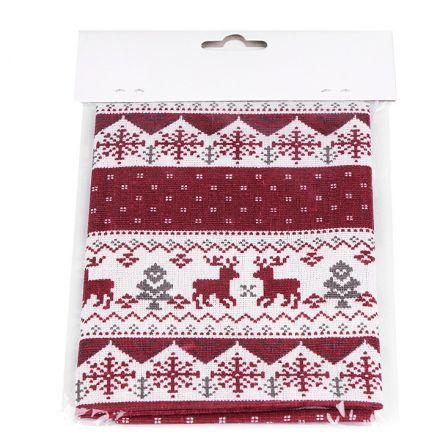 Metráž: Vánoční látka - imitace lnu 45 x 45 cm