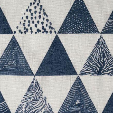 Metráž: Bavlněná metráž / imitace lnu - trojúhelníky