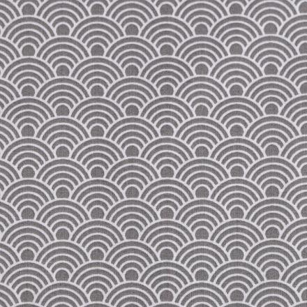 Metráž: Bavlněná látka šíře 160 cm - šedá