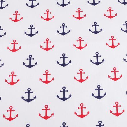 Metráž: Bavlněná látka námořnická - kotva
