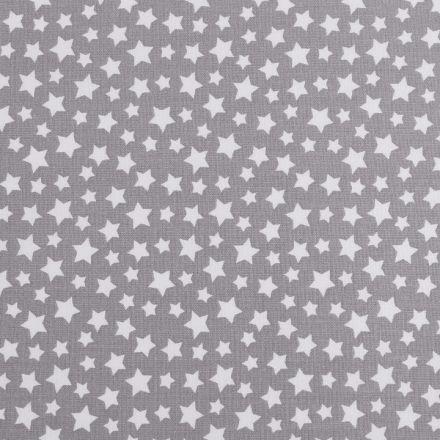 Metráž: Bavlněná látka hvězdy - šedá