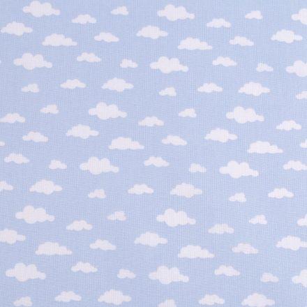 Metráž: Bavlněná látka obláčky - modrá