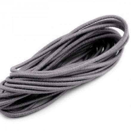 Galanterie: Kulatá pruženka 2 mm svazek (3m) - tmavě šedá