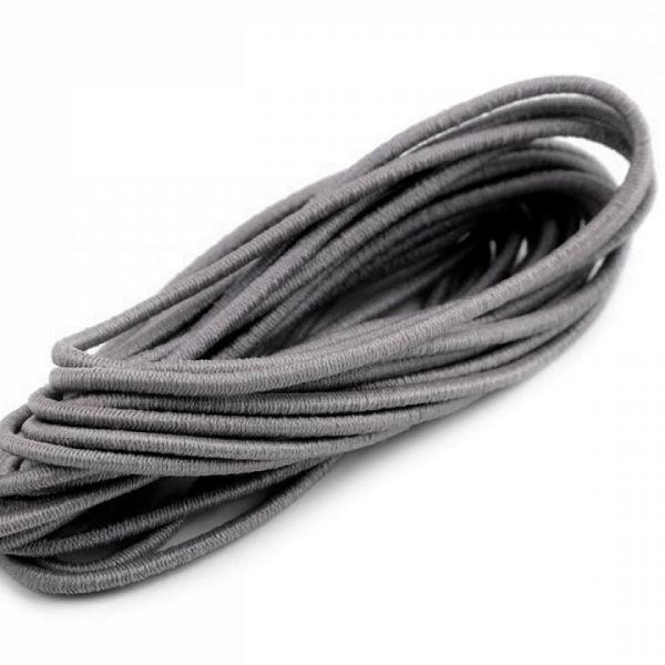 Kulatá pruženka 2 mm svazek (3m) - tmavě šedá