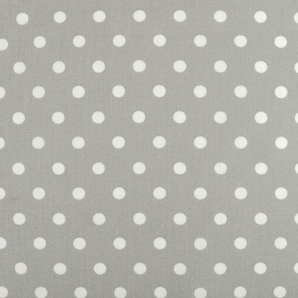 Bavlněná látka puntíky - šedá