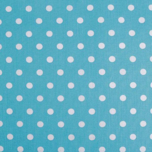 Bavlněná látka puntíky - modrá