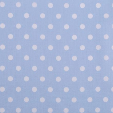 Metráž: Bavlněná látka puntíky - světle modrá