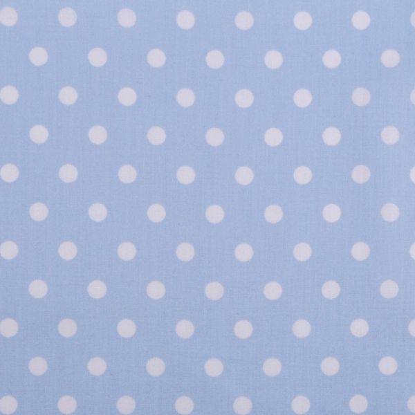 Bavlněná látka puntíky - světle modrá
