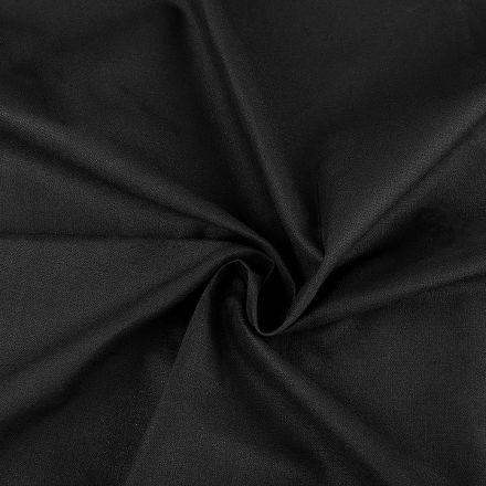 Metráž: Sada bavlněná látka s nití - černá
