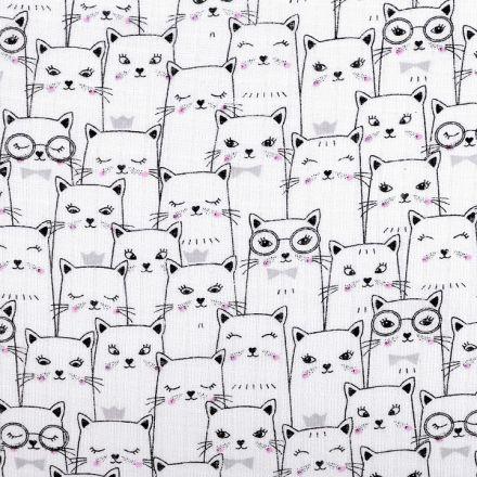Metráž: Bavlněná plenkovina šíře 80 cm - kočky