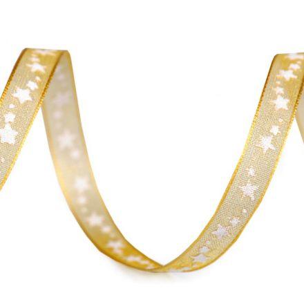 Galanterie: Vánoční monofilová stuha (1m) - zlatá
