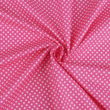 Metráž: Bavlněná látka puntík - růžová