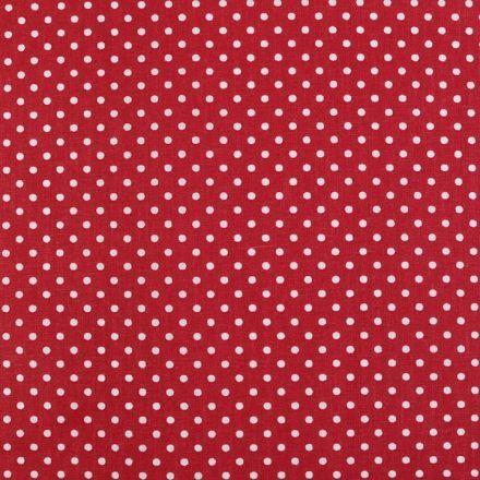 Metráž: Bavlněná látka puntík sada s nití - červená