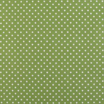Metráž: Bavlněná látka puntík sada s nití - sv. zelená