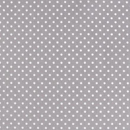 Metráž: Bavlněná látka puntík sada s nití - šedá