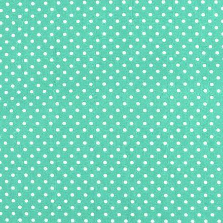 Metráž: Bavlněná látka puntík sada s nití - mintová