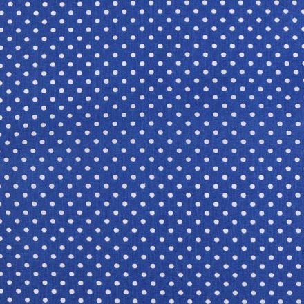 Metráž: Bavlněná látka puntík sada s nití - modrá