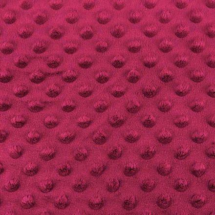 Metráž: Minky s 3D puntíky - bordó