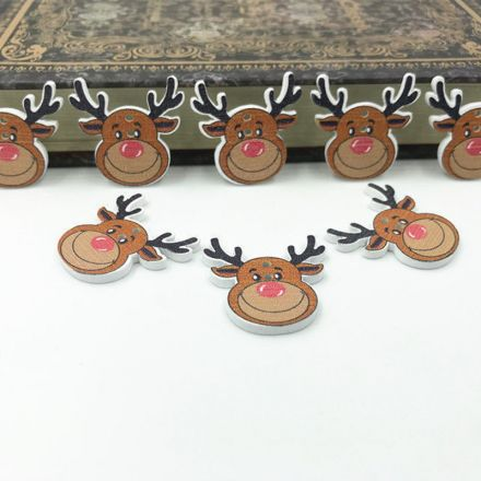 Galanterie: Dřevěný dekorační knoflík (1ks)