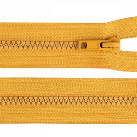 Galanterie: Zip kostěný délka 35 cm - hořčicová