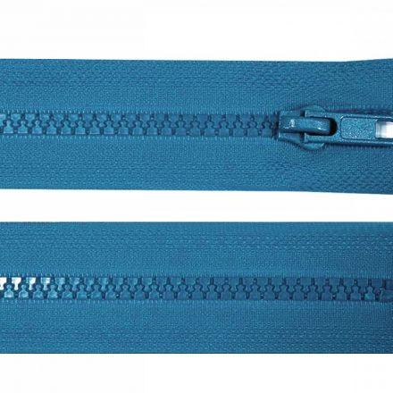 Galanterie: Zip kostěný délka 35 cm - modrá