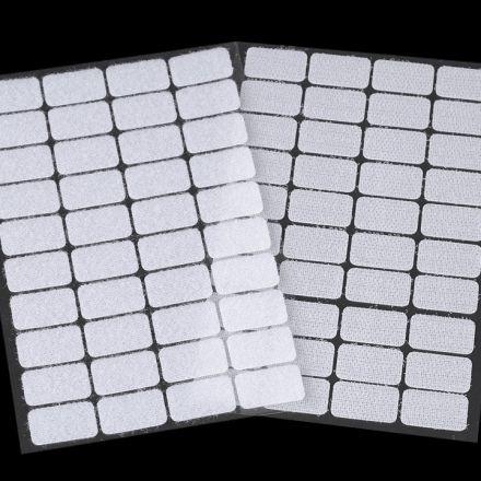 Galanterie: Suchý zip samolepicí obdélníčky 15 x 25 mm - bílá