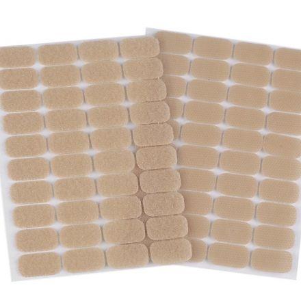 Galanterie: Suchý zip samolepicí obdélníčky 15 x 25 mm - béžová