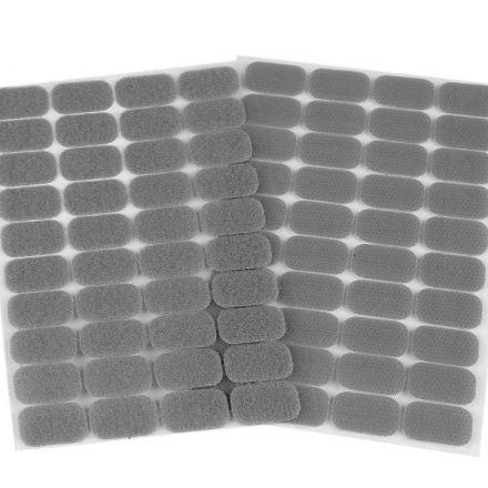 Galanterie: Suchý zip samolepicí obdélníčky 15 x 25 mm - šedá