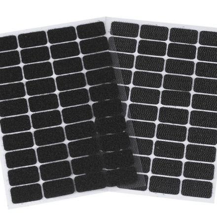 Galanterie: Suchý zip samolepicí obdélníčky 15 x 25 mm - černá