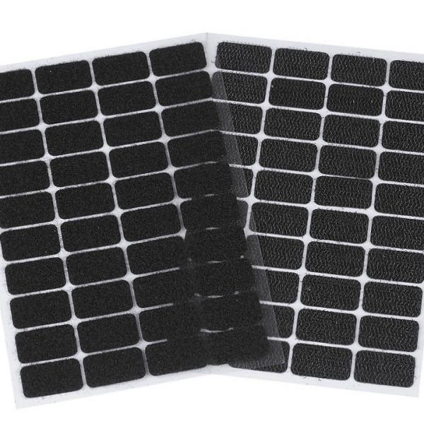 Suchý zip samolepicí obdélníčky 15 x 25 mm - černá