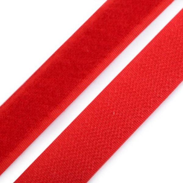Suchý zip šíře 20 mm - červená
