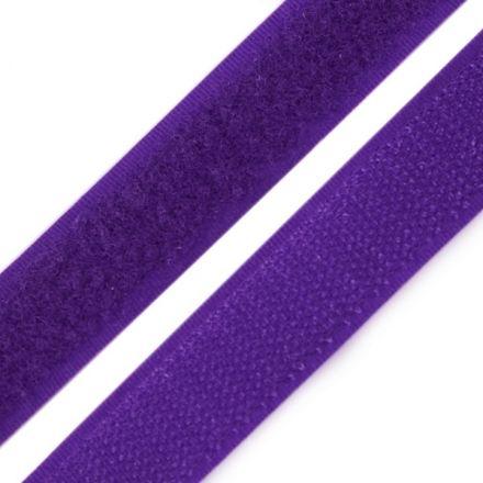 Galanterie: Suchý zip šíře 20 mm - fialová